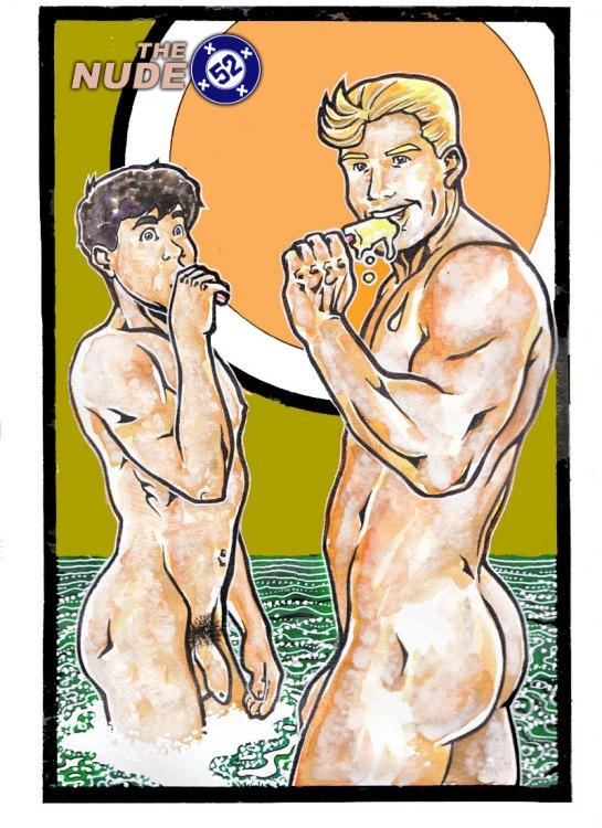 Nude Aquaman and Aqualad