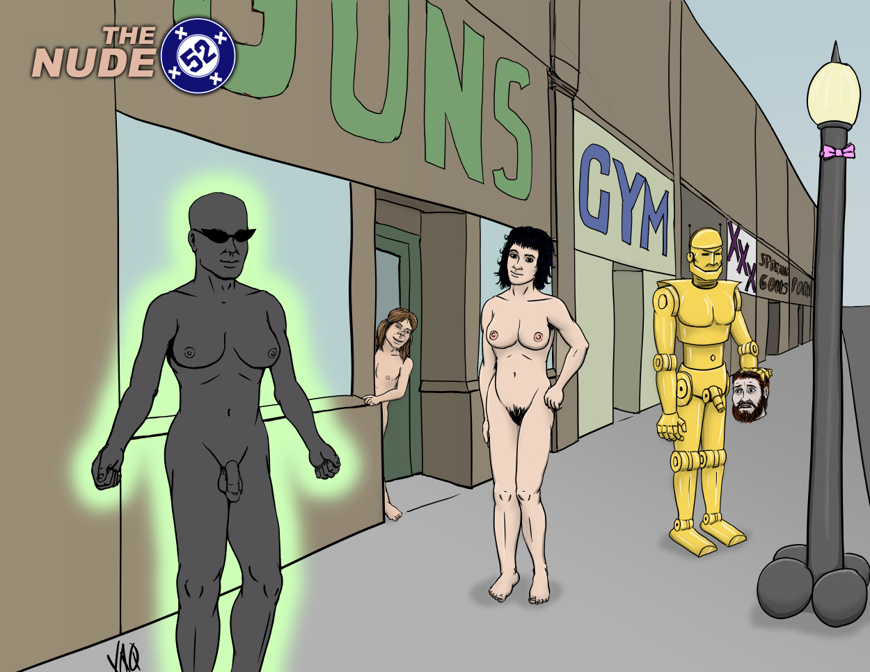 nude DoomPatrol, Morrison era