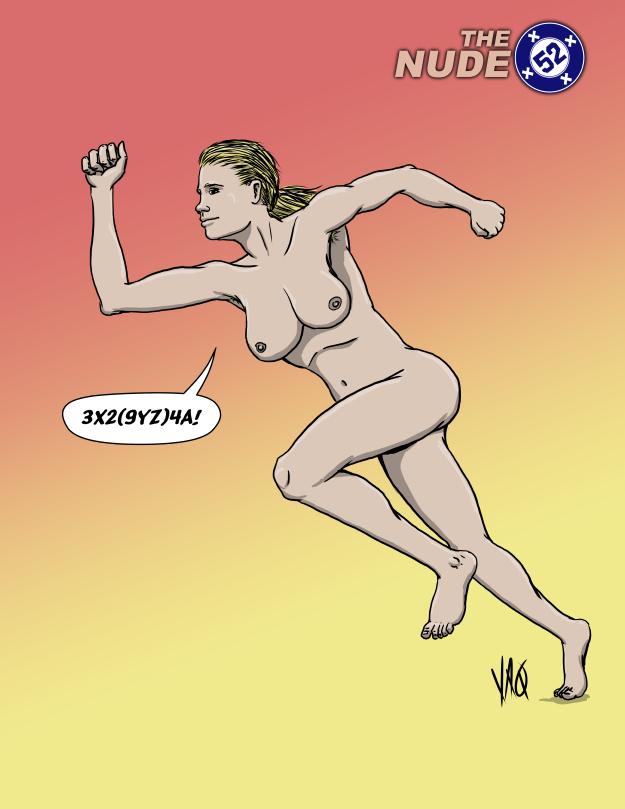 Nude DC comics Jesse Quick
