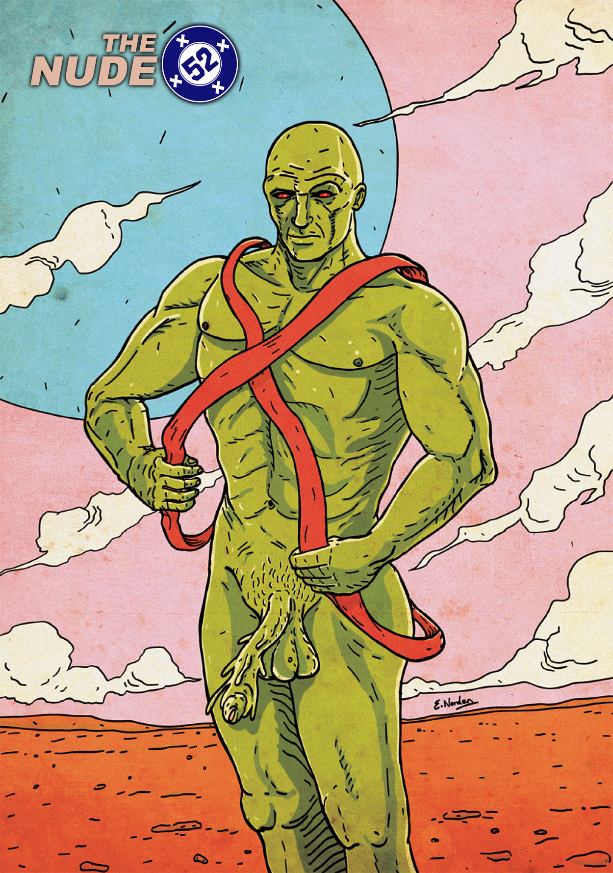 Nude52-MartianManhunter