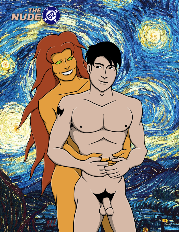 Nude Starfire and Nightwing